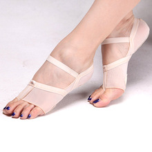 2018 New Fiber Woman Socks Peds And Liners Belly Dance Elastic Clip Finger Wear-resistant Shoe Cushion Pad Foot Care Nurse