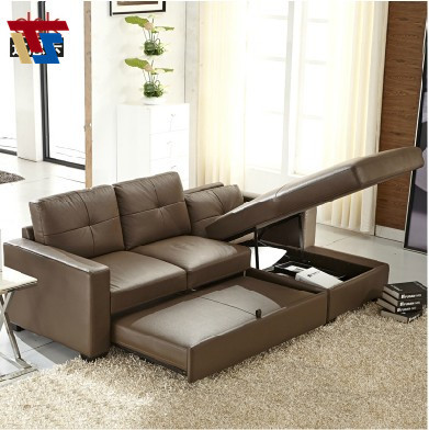 Real Leather Brown Corner Sofa Bed Sleeper Couch Mechanism Transformation Living Room Furniture Modern Free Shipping To Russia In Sofas From