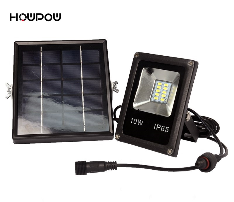 HowPow Black 10W COB LED Solar Motion Light LED Flood Security Garden Light Pir Motion Sensor LED Solar Light Waterproof