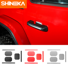 SHINEKA Car Stickers For Jeep wrangler JL 2018+ Accessories 2 Door 4 Handle Cover Rear Tail Decoration
