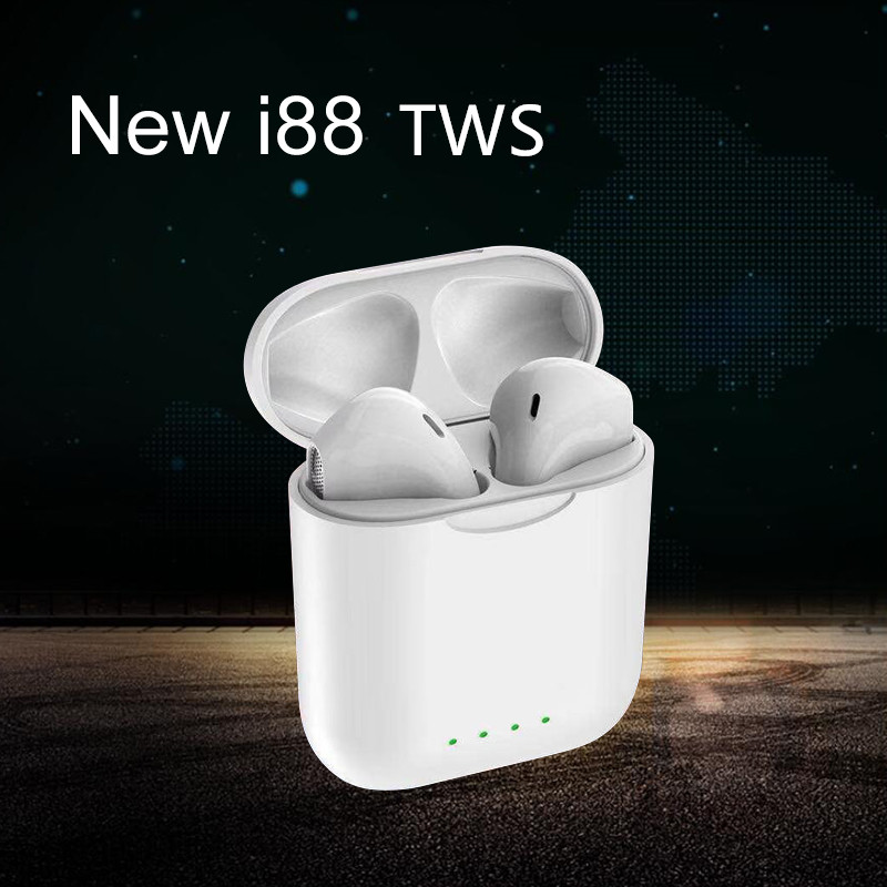 2019 New i88 TWS 1:1 Air pods Wireless Stereo Bluetooth 5.0 Headsets better than i10 i11 i13 i9 tws for all Phone ear pods