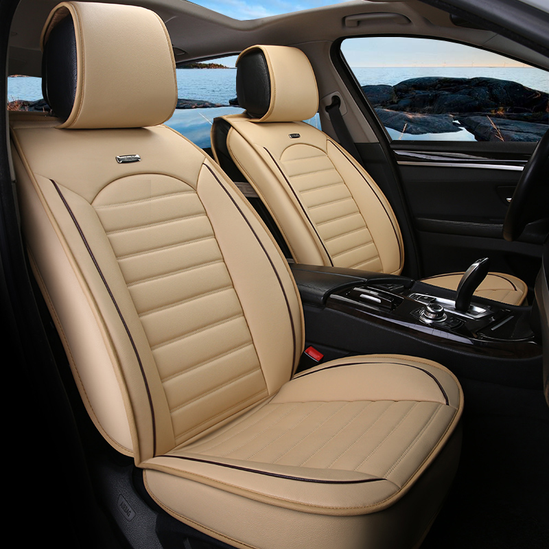 Universal PU Leather Car Seat Covers for LandRover All Models Range Rover Freelander Discovery Evoque Auto Accessories