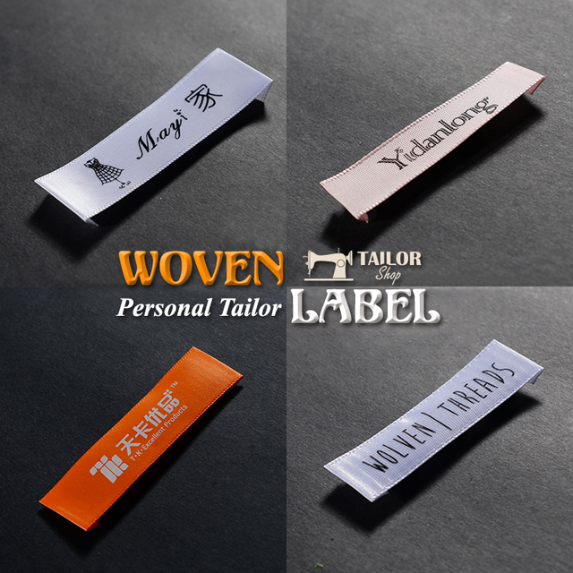 Free Shipping Customize New Weaving Mark Clothing Shirts Shoes Bag Label Labels