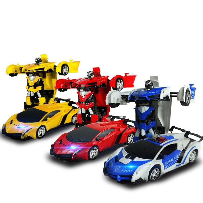 Rc-autos 1:18 Verformung Rc Autos Fernbedienung Spielzeug Für Kinder Jungen 2 In 1 Rc Roboter Sport Modelle Ferngesteuerten Auto Transeformatio