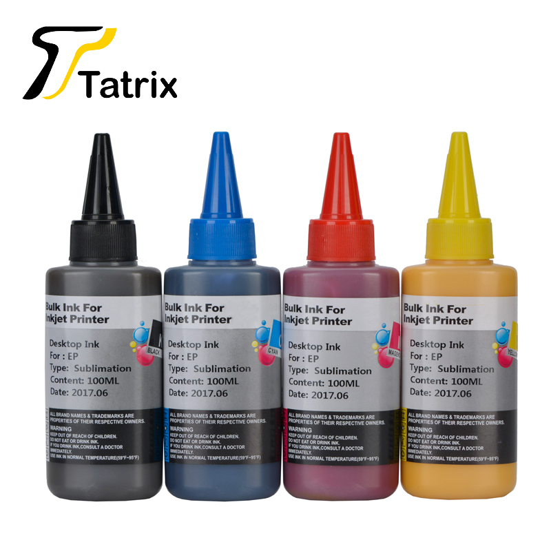 400ML Sublimation Ink Heat <font><b>Transfer</b></font> Ink For Epson Printers Refillable Ink Cartridge For T1281 T0921 T0791 T1711 T0631 T0731