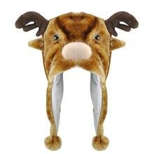 2017 Горячий Стиль Животных Hat С Шарф Из Искусственного Меха Дети Зимняя Шапка-Лось