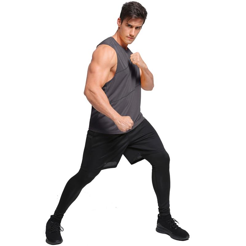 running - Mens Running Vest Gym Sleeveless Shirt Summer Slim Tank 2019 Men Sport Vest Top Basketball Workout Training Fitness Man Singlet