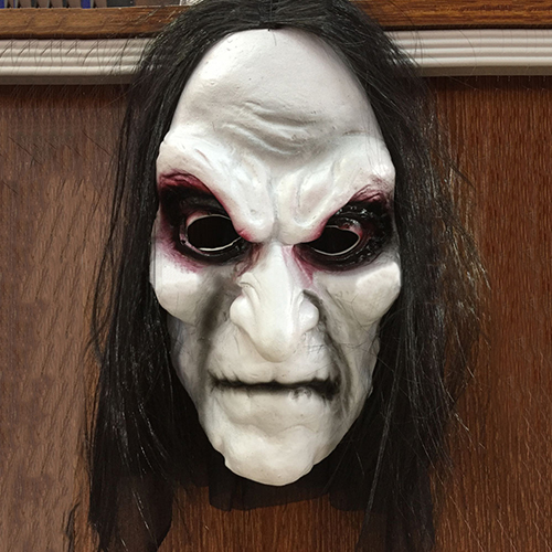 Scary Black Long Hair Blooding Ghost Mask Cosplay Halloween Costumes Party Prop