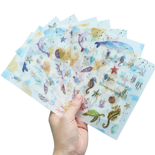 1sheet/lot Underwater World Cartoon Shape And Paper DIY Decorative Stickers Handmade Gift Decoration Scrapbooking