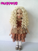 Dolls Accessories Middle Parting Curly Hair Wigs for American Dolls Hair DIY Making & Repair Supplies Doll Wigs