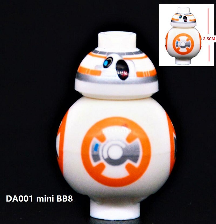 Hot Movie Mini BB8 Astromech Droid Star Wars Rogue One The Force Awaken Bricks Action Building Blocks Children Gift Toys DA001 single sale star wars rogue one k 2so droid robot sw782 assemble minifig building diy blocks kids toys