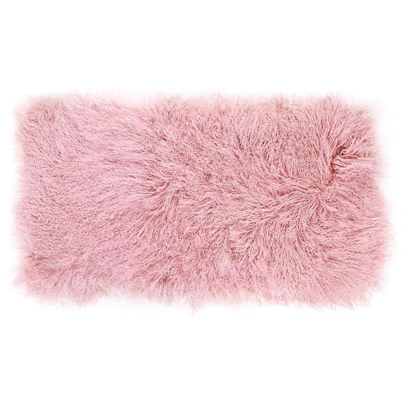 AOZUN tapis en peau de mouton tibétain rose 120x60 cm tapis de fourrure sur mesure pour la décoration intérieure tapis de fourrure lit toboggan couverture tapis de porte en peau de mouton