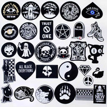 Black Dark Iron On Patches Badges for Sew Seam Tailoring Clothes Suits of Coat Jacket Trousers T-shirt Pants Ornament Apparel(China)