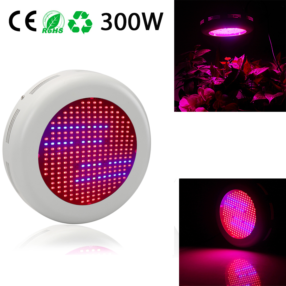 UFO 300W Full Spectrum Led Grow Light Red/Blue/White/UV/IR  Flower Plants led grow lights for indoor plant 10pcs lot full spectrum led grow light 216w ufo grow box red blue white warm uv ir for indoor hydroponics plant and flower
