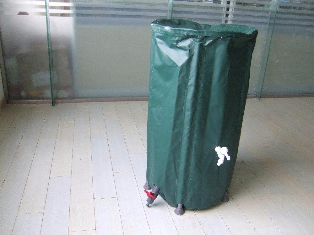 Seau pliable de collecte d'eau de pluie 750L (D1000mm X H1000mm) seaux extérieurs pliants de réservoir d'eau PVC bout d'eau compressible