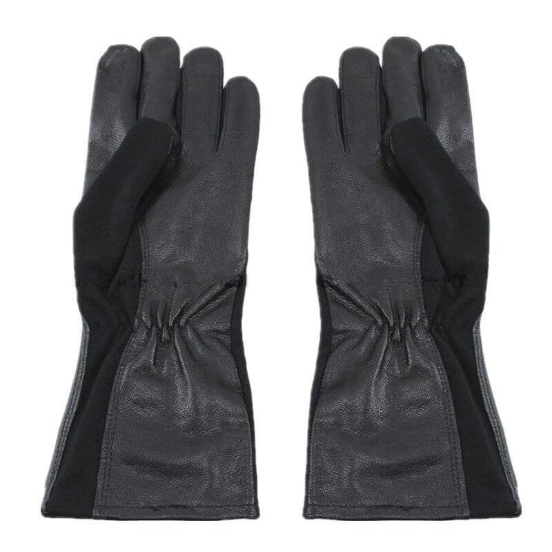 Военные тактические перчатки, спортивные кожаные тактические перчатки для велоспорта, тактические перчатки пилота в стиле Nomex (OD Green BK)