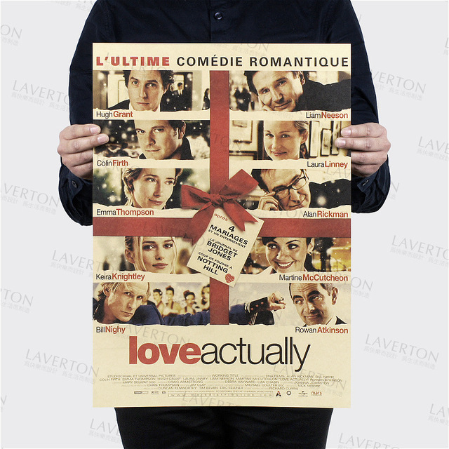 Love Actually /classic Romantic movie film/kraft paper ...