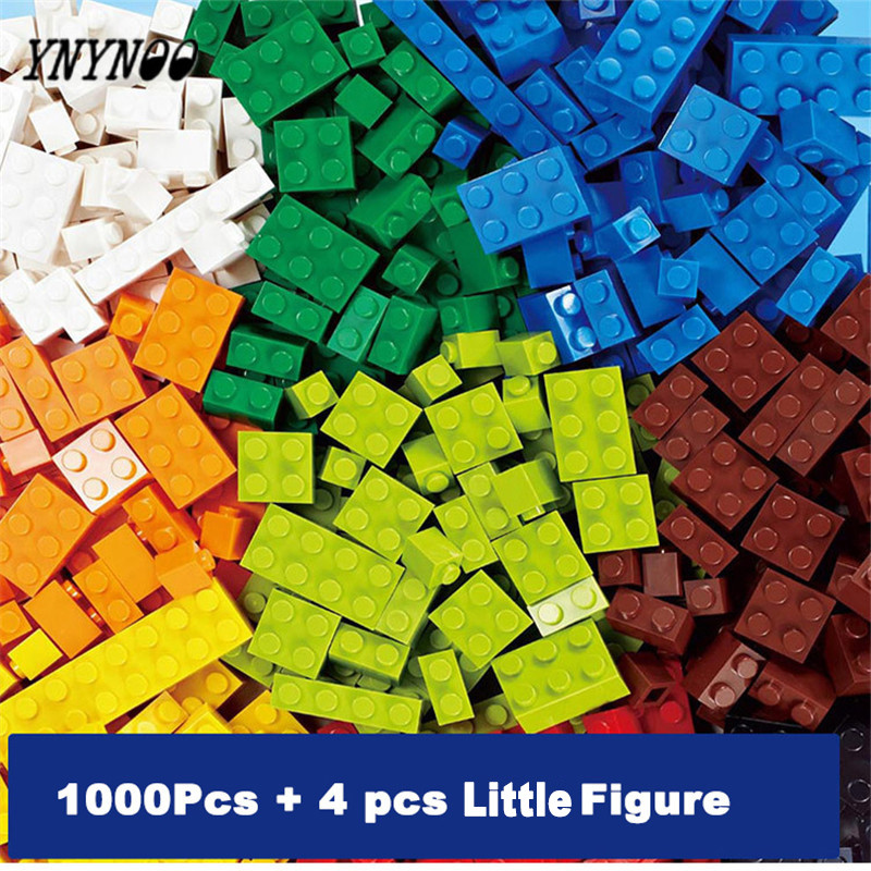 YNYNOO 1000 pcs Model Building toys for children classic blocks toy Educational Bulk Bricks Compatible With Lepins Toy kids gift цены онлайн