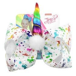 Детские заколки для волос с картоном крылья единорога большой заколка в виде бантика Радуга Звезды Любовь печати волосы мяч украшения