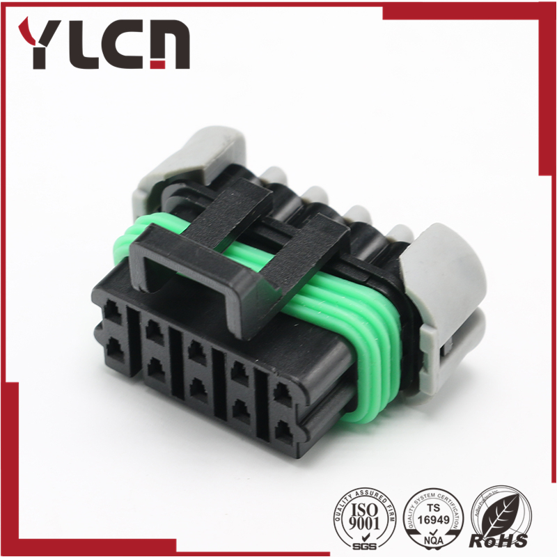 Free shipping 10 Way Black Metri-Pack 150 Sealed Female Connector Assembly for Delphi 12177081 12065425