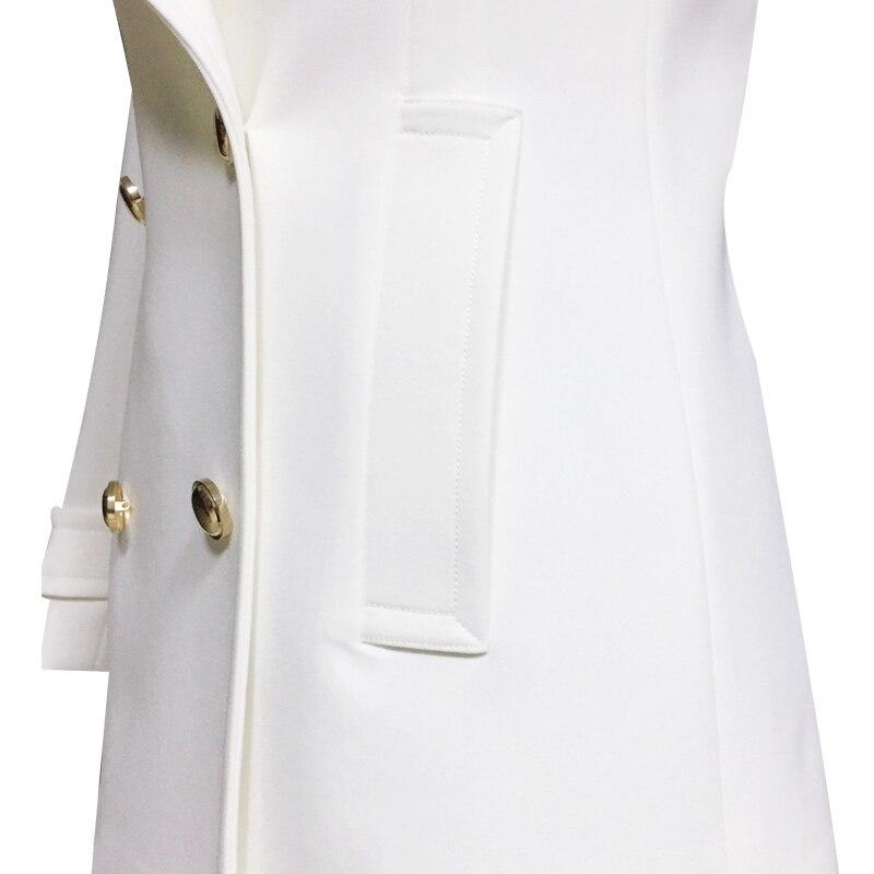 Acket Nouveau White Tranchée Et Double Blouse Mode Coupe Boutonnage vent Printemps Mince rP8qnr6