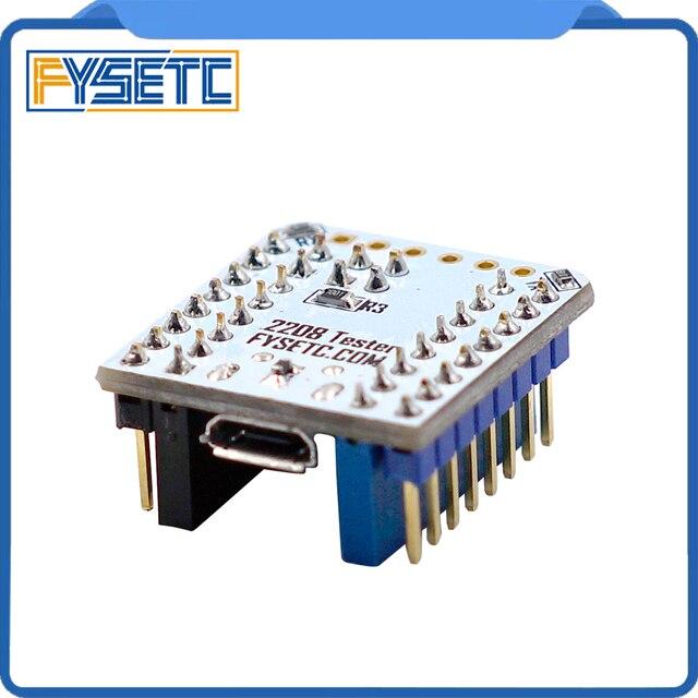 1 st TMC2208 Tester Met Stapelbaar Headers Voor Testen Of Knippert Parameter Modi Van TMC2208 Bediening Op USB Naar Seriële adapter