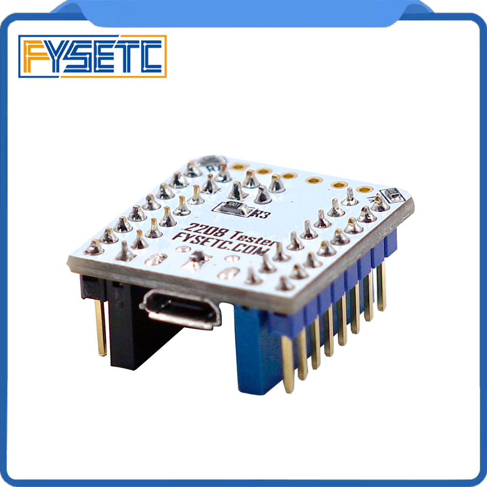 1pc TMC2208 Tester With Stackable Headers For Testing Or Flashing Parameter Modes Of TMC2208 Operation On USB To Serial Adapter