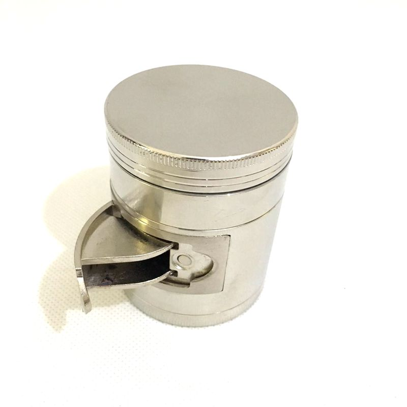 High Quality Zinc Alloy 55mm 4 Levels Herb Grinder with Windows Tobacco Smoke Super Shredder for Glass Pipe Water Pipe in Tobacco Pipes Accessories from Home Garden
