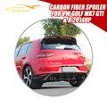 Golf MK7 O estilo fibra de carbono trunk rear lip asas spoiler para VW golf MK7 GTI & R 2014UP Janela asa