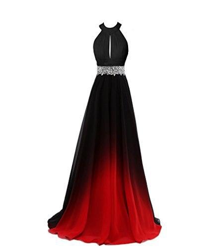 Bealegantom Sexy Gradient Longue Robes De Soirée 2018 Avec Dentelle Perlée Up Formelle Prom Party Robe Robe Longo QA1521