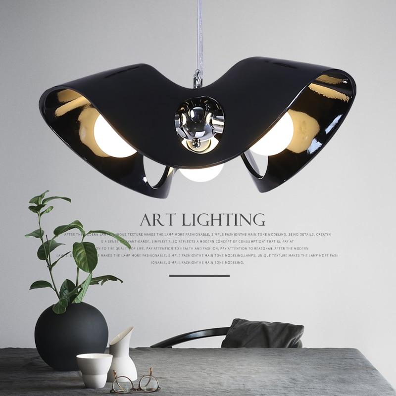 Nordic style creative personality postmodern simple living room lamp room lamp resin pendant Light 2218