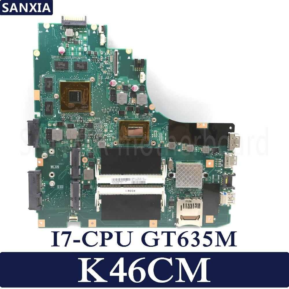 все цены на KEFU K46CM laptop motherboard for ASUS K46CM K46CB K46C K46 Test original mainboard I7 CPU GT635M