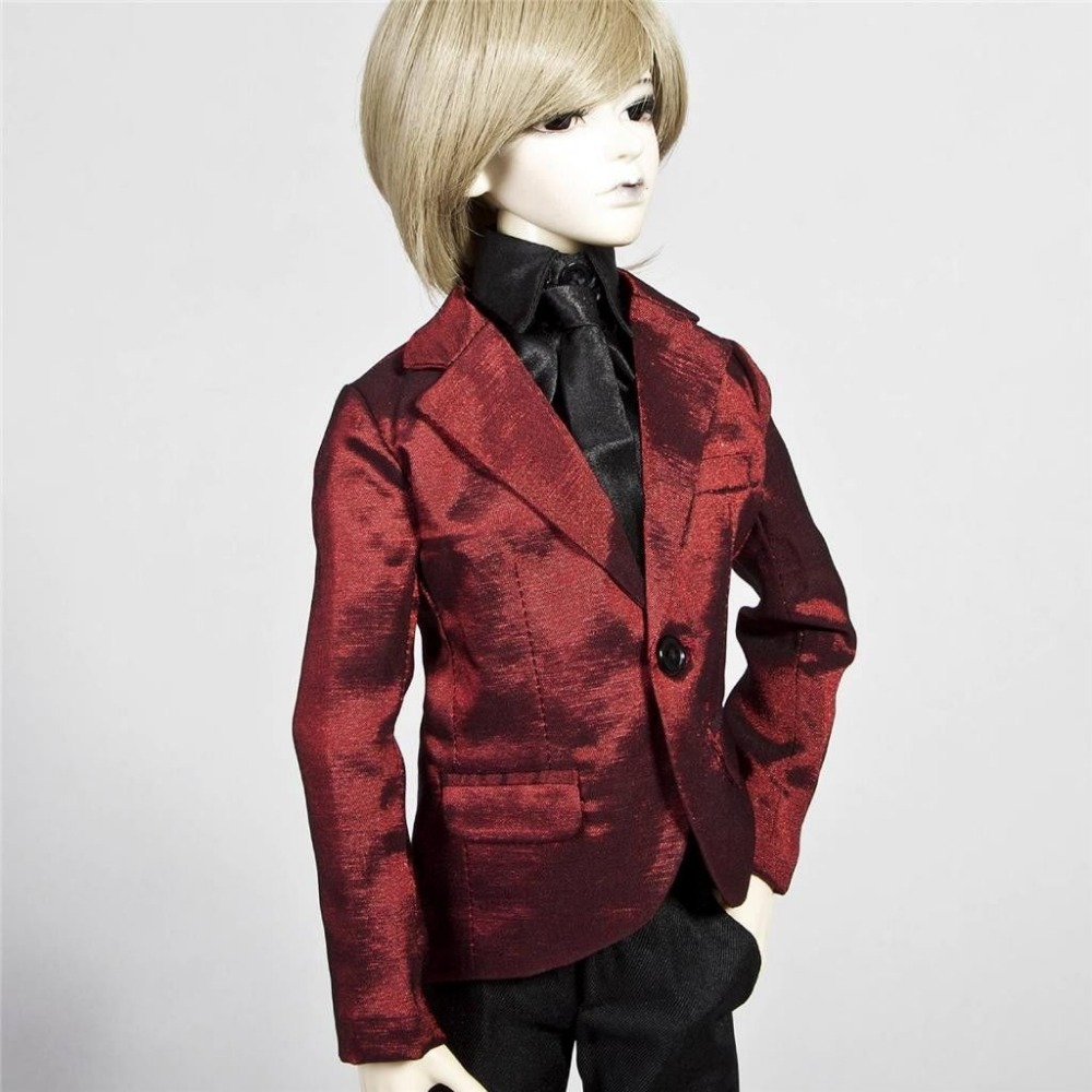 [wamami] 507# Red Business Formal Clothes/Suits 1/3 SD DOD BJD Boy Dollfie handsome grey woolen coat belt for bjd 1 3 sd10 sd13 sd17 uncle ssdf sd luts dod dz as doll clothes cmb107