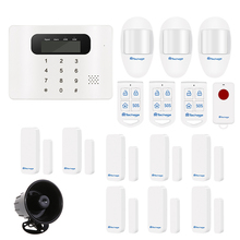 Techage Touch GSM Alarm Systems Android IOS APP Alarms PIR Motion Detector Wired Siren Smart Sensor Home Security Alarm DIY Kit