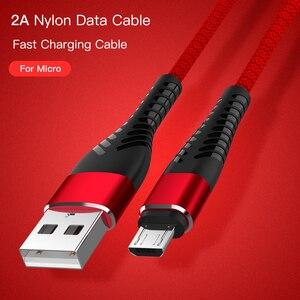 2A Micro USB кабель для быстрой зарядки Micro usb зарядное устройство Microusb шнур для передачи данных для xiaomi redmi huawei LG кабель для планшета гибкий Micro USB