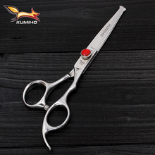 KUMIHO 6 inch Child Hairdressing scissors with round blade tip safe hair scissors 9cr13 stainless steel home use baby scissors