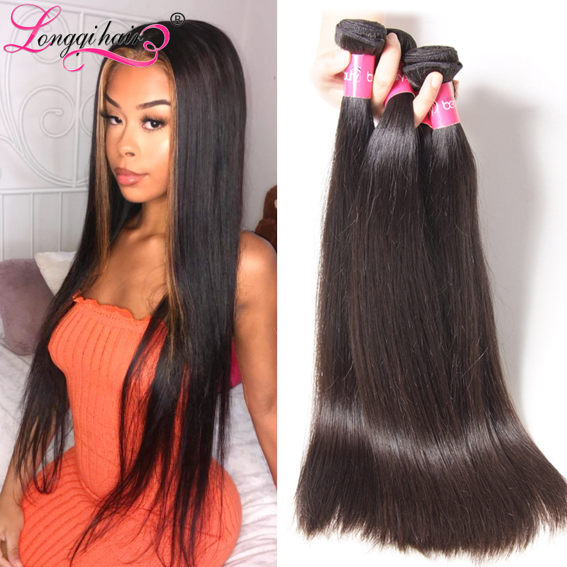 LONGQI HAIR Brazilian Straight Hair Bundles 100% Human Hair Extensions  Natural Remy Hair Weaves 8 30 Inch 1 3 4pcs Free Shipping-in Hair Weaves  from Hair ... 986217ed5