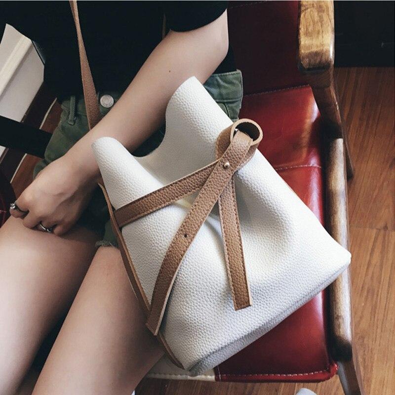 Cordón de la Señora Bucket Bag De Mano Bolsa de Mensajero de La Vendimia  Bolsos