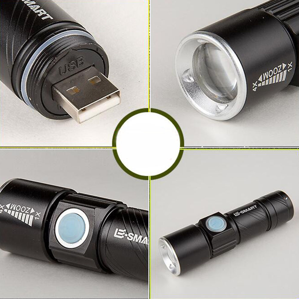 Strong Light LED Mini Bicycle Light Headlights Mountain lights usb rechargeable flashlight with light mount