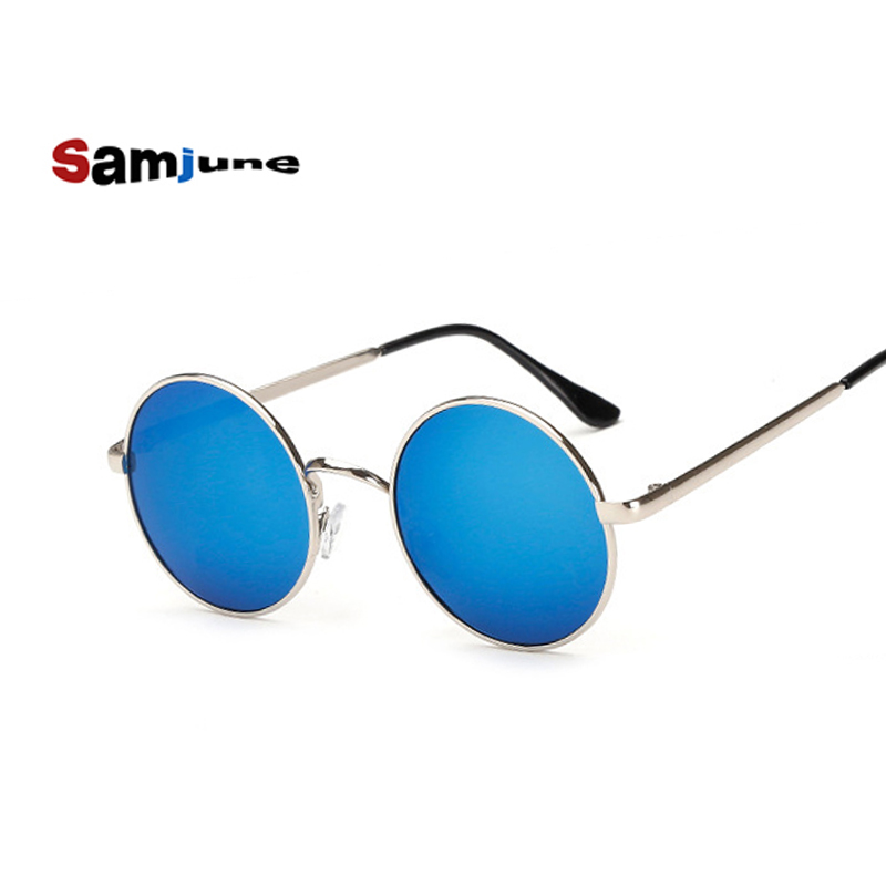 Samjune New Brand Designer Classic Polarized Round Sunglasses Men Small Vintage Retro John Lennon Glasses Dames Driving Eyewear
