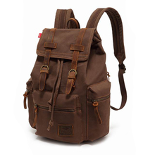 6b553a30b AUGUR 2018 Vintage Backpacks For Men's High Quality Canvas Casual Backpack  Male 15.6