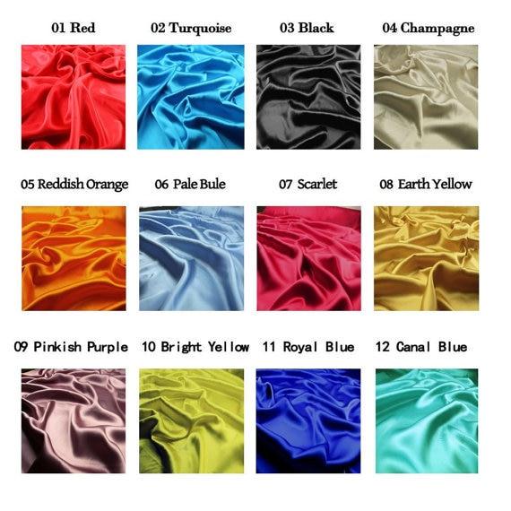 16MM 42 '' lățime, netedă de culoare solidă din mătase Stretch - Arte, meșteșuguri și cusut - Fotografie 2