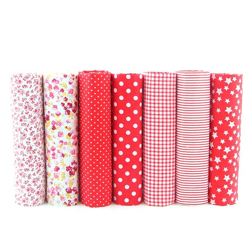 7pcs Floral Patchwork Cotton Fabric Fat Quarter Bundles Sewing Textile Patchwork Fabric For Bags Baby Clothes 50x50cm J-7-12 craft