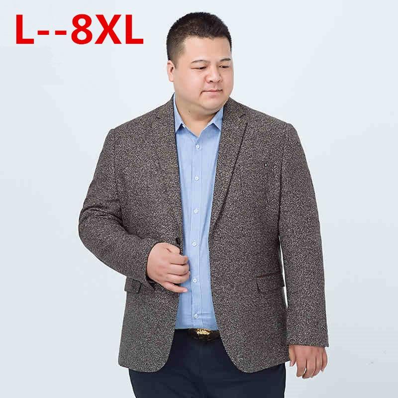 10xl 8xl 6xl 5xl Casual Männer Stricken Anzug Blazer Geschäfts Lose Kostüm Homme Blazer Masculino Männlich Woolen Anzüge Vintage Jacke Mantel Herausragende Eigenschaften