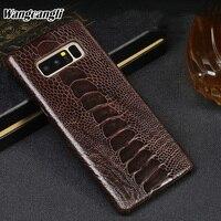 Wangcangli Роскошный чехол для телефона для samsung Примечание 8 Редкие страусиной кожи ног телефона защиты задней оболочки из натуральной кожи чех