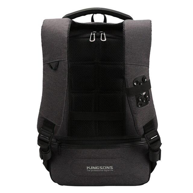 Kingsons Backpack Men 15.6 Inch Laptop Anti Theft Bagpack USB Charging Mini Back Pack for Teenager Boys Big School Business Bag