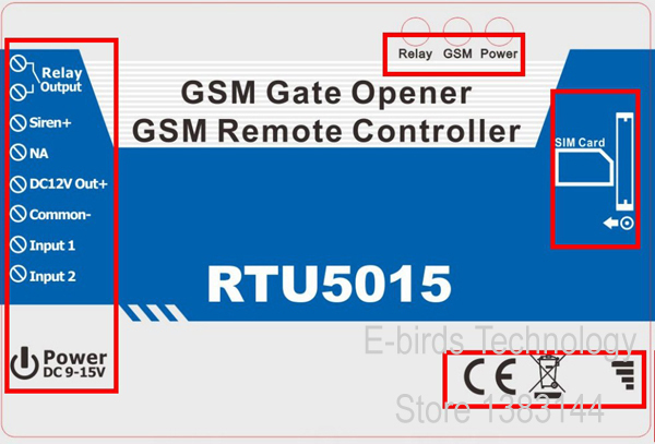 ФОТО GSM alarm system GSM door opener RTU 5015 access control system for electronic lock and smart home with 2 dry contact