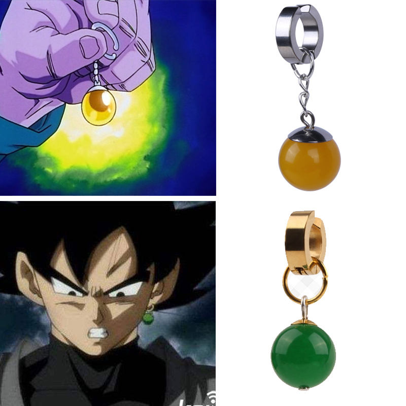 Dragonball Z Dragon Ball Black Son Goku Potara Earrings Eardrop Prop Daily Cosplay   headwear