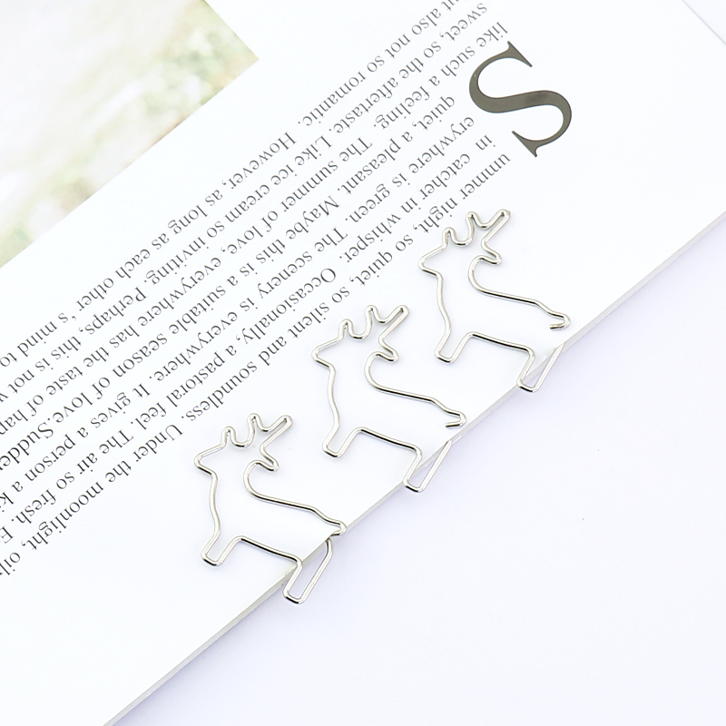 TUTU 2019 Sale New Paperclip 6pcs/pack Vintage Deer Clip Paper Clips Bookmark Pin Stationery Office Accessories Memo H0221