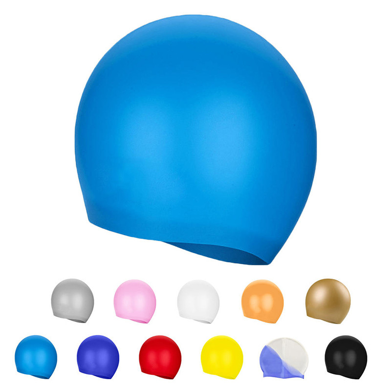 все цены на 1pc Swimming Cap Swim Silicone Hats Candy Color Water-proof Caps Brand New Adult Men Women Children High Quality Caps